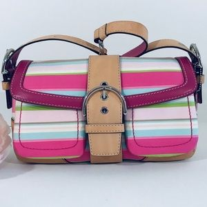 COACH Soho Hampton Stripe Handbag